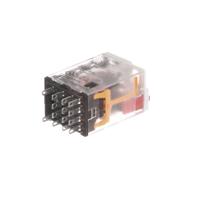 Plug-in Relay Premium LED, Mechanical Flag 14-pin Square Base 4PDT
