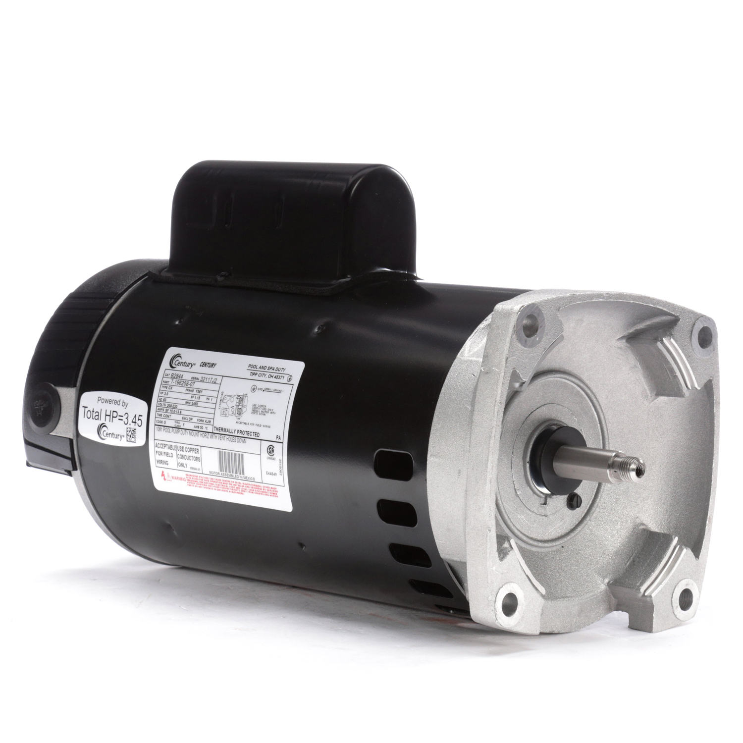 Centurion Pool And Spa Pump Motor Square Flange 208-230 ... on jacuzzi centrifugal pumps, jacuzzi tubs, jacuzzi blower motors, jacuzzi motors replacements, cal spa pumps and motors, jacuzzi enclosures, jacuzzi heaters, jacuzzi spa motor assembly, jacuzzi with two pumps, jacuzzi vacuum, jacuzzi water pumps, jacuzzi parts, jacuzzi lights,