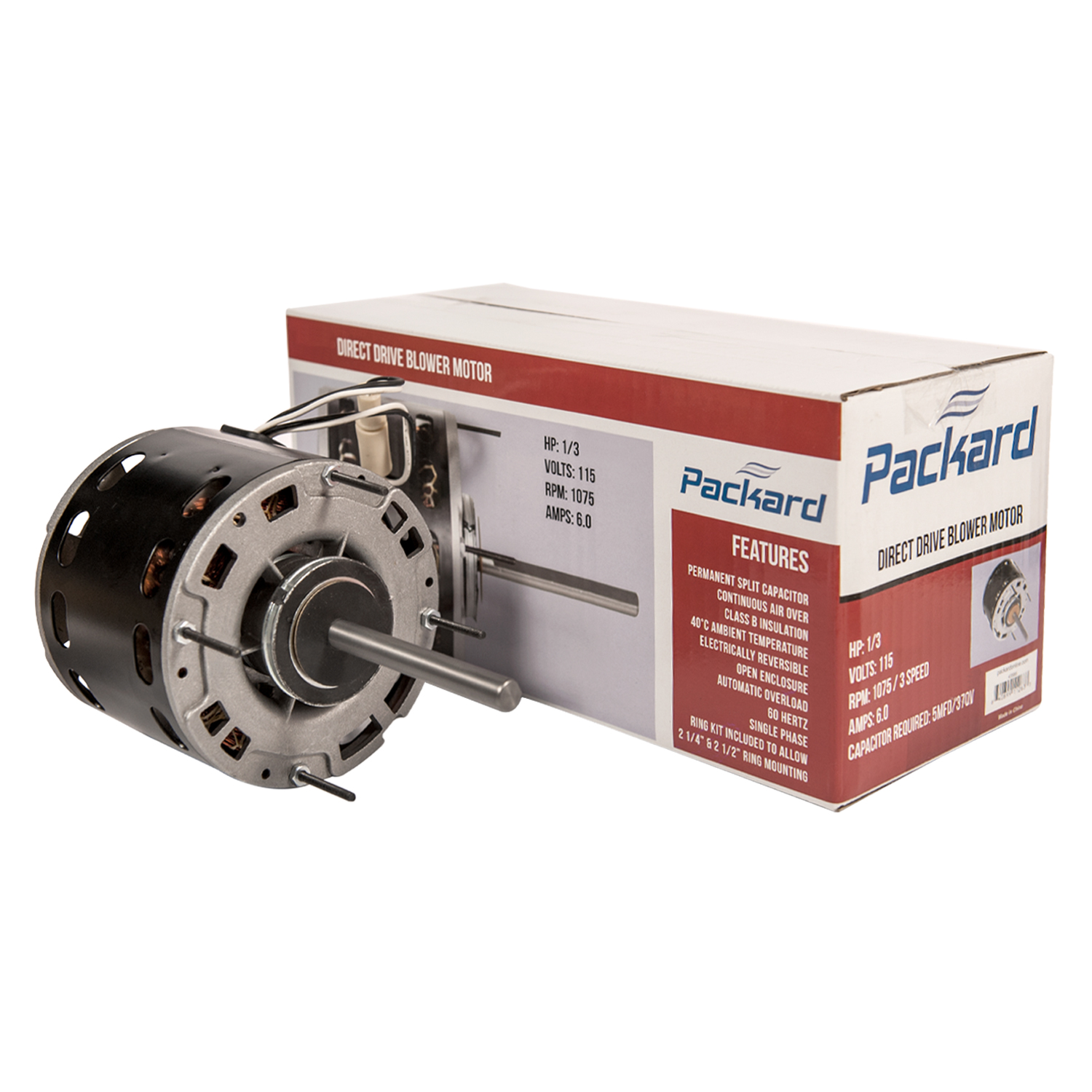 Carrier Replacement 48 Frame Blower Motor 1//2 Hp P257-8587 By Packard