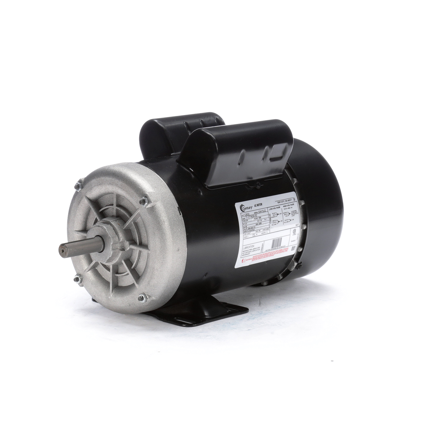 2.0 HP, 208-230/115 V, Single Phase