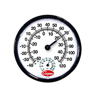 12 In Wall Thermometer -40/120 Deg F/ Deg C w/ Humidity Scale