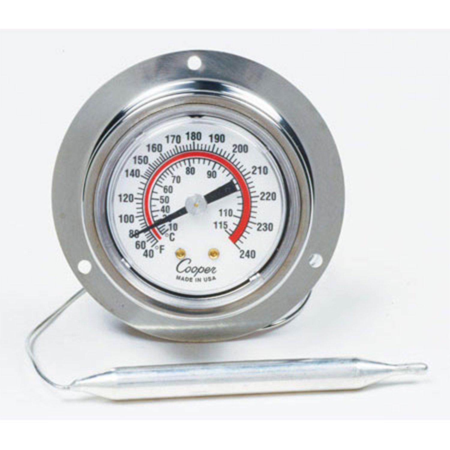 "2"" Panel Thermometer Back Flange Back Connect"