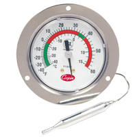 2 In. Front Flange Back Connect Panel Thermometer
