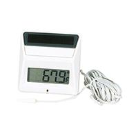 Panel Thermometer Square Solar Powered, -58/158 Deg F/Deg C