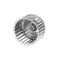 Galvanized Steel Single Inlet Blower Wheel, 4 23/32