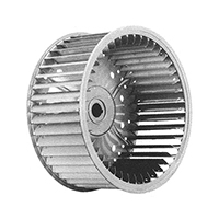 Single Inlet Blower Wheel Galvanized 5/8 In Bore 9 15/16 In Dia CCW