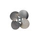 "4-Blade Free Air Propeller 14"" Diameter CCW Rotation"