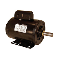 Capacitor Start Rigid Base Motor 115/208-230 Volts 1725 RPM 1 H.P.