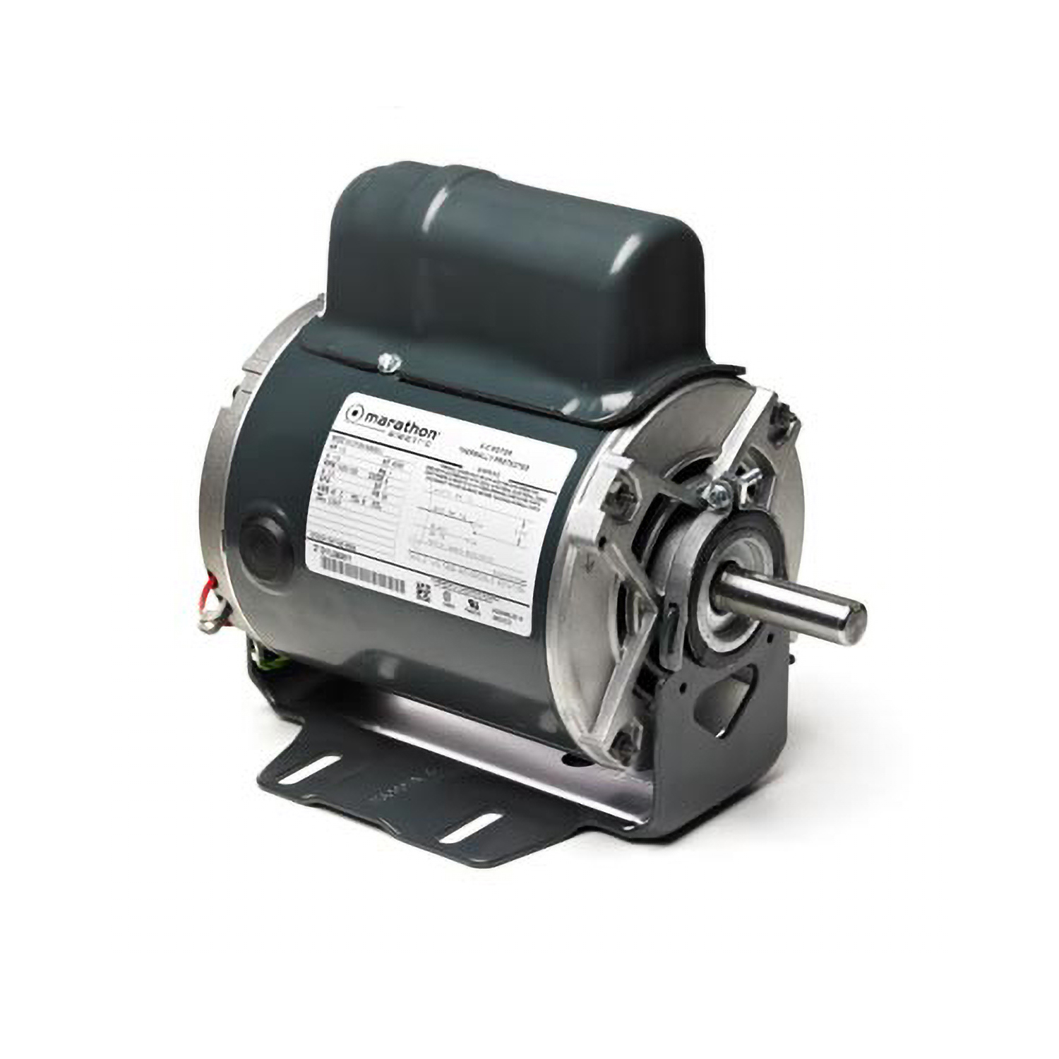 48 FR Capacitor Start Fan and Blower Duty Mtr, 1/4 HP, 1725 RPM, 115/230 V
