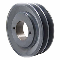 Two Groove Bushing Pulleys For 4L Or A Belts 13.25