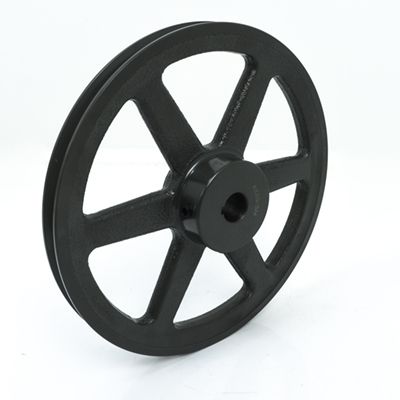 "3.25"" Dia. Single Groove Cast Iron Pulley For 4L or A Belts 5/8"" Bore"