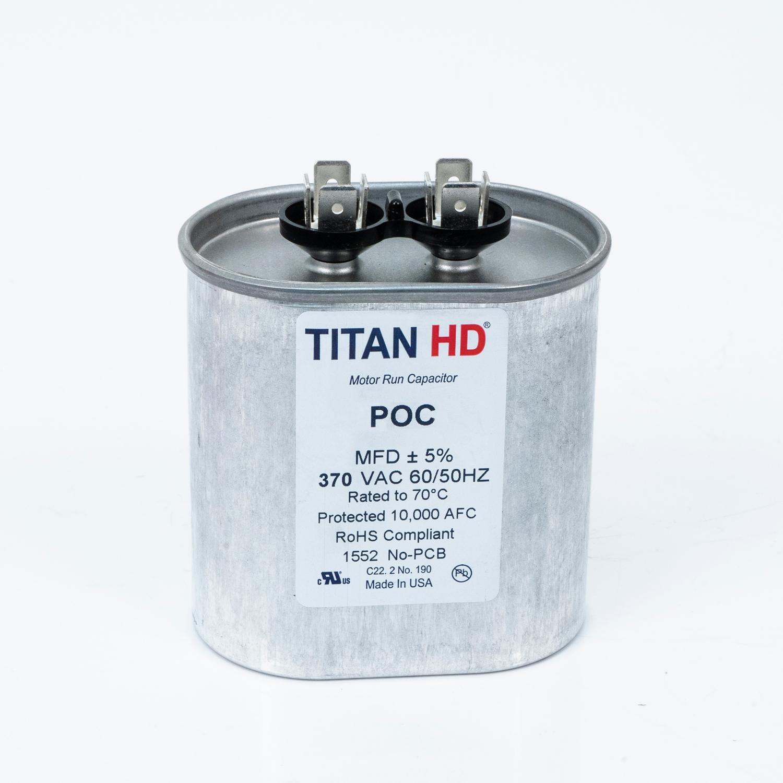 TITAN HD Run Capacitor 45 MFD 440/370 Volt Oval | Packard Online