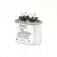 TITAN HD Run Capacitor  5 MFD 370 Volt Oval