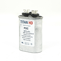 TITAN HD Run Capacitor  40 MFD 370 Volt Oval