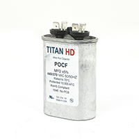 TITAN HD Run Capacitor 12.5 MFD 440/370 Volt Oval