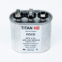 TITAN HD Run Capacitor 20+4 MFD 370 Volt Oval