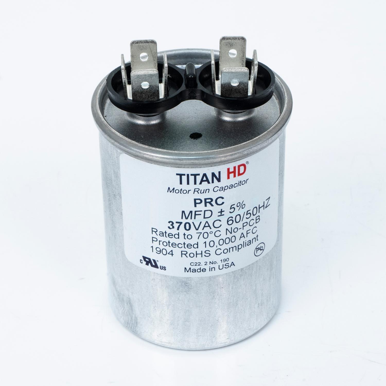 TITAN HD Run Capacitor 15 MFD 370 Volt Round   Packard Online
