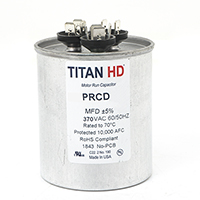 TITAN HD Run Capacitor 80+7.5 MFD 370 Volt Round