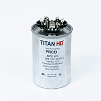 TITAN HD Run Capacitor 50+3 MFD 370 Volt Round