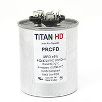 TITAN HD Run Capacitor 55+5 MFD 440/370 Volt Round