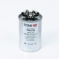 TITAN HD Run Capacitor 25+10 MFD 440/370 Volt Round