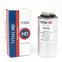 TITAN HD Run Capacitor 50+5 MFD 440/370 Volt Round