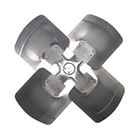Aluminum Revcor Fan Blade, 4 Blade, 26 in. DIA., CW, Hub on Discharge