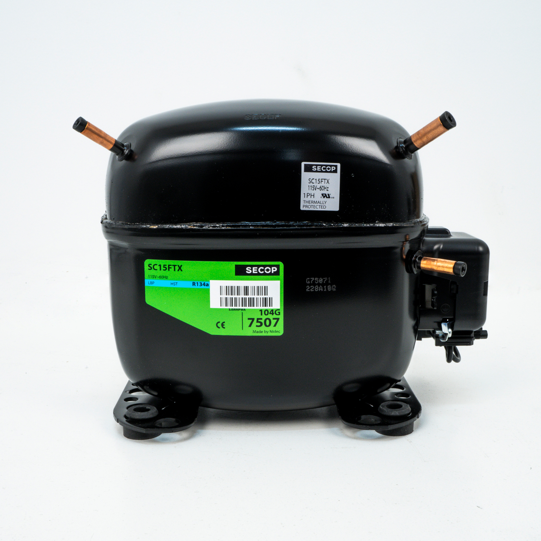 Recip  Compressor, R-134a, 1550 BTU, 115-1-60, 100-1-50/60 LBP/MBP
