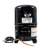 Recip. A/C Compressor, R-22 Systems, 46,500 BTU, 208/230-3-60, POE Oil