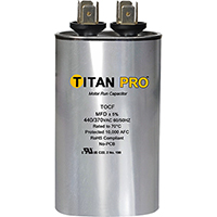 TITAN PRO Run Capacitor 25 MFD 480V Oval