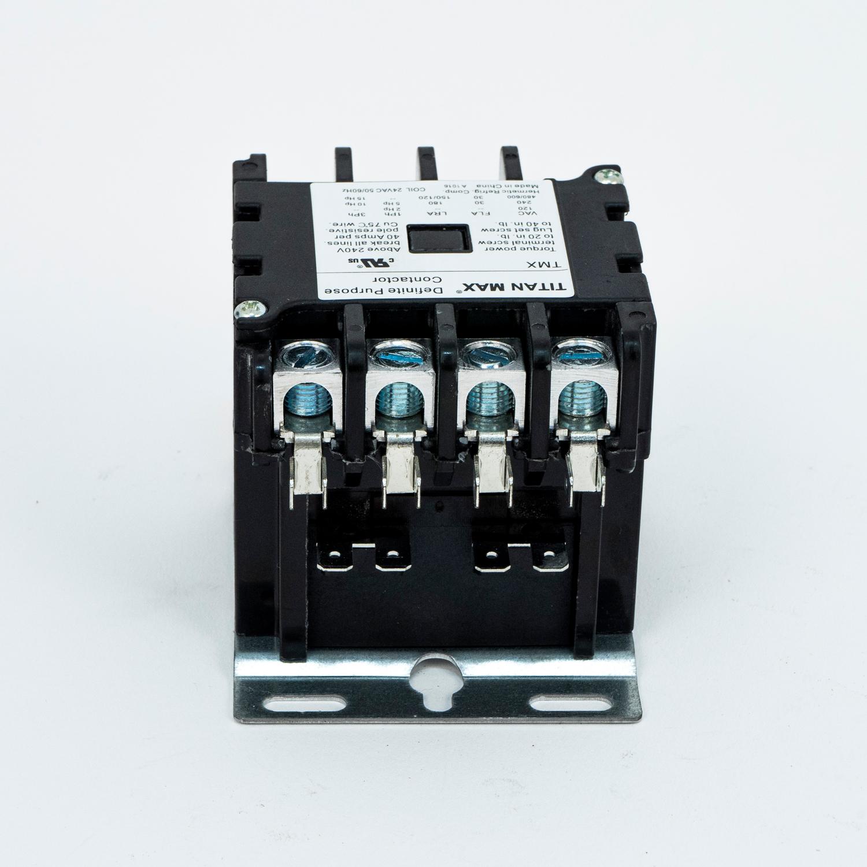Titan Max Dp Contactor  4 Pole  40 Amp  24 Volt Coil