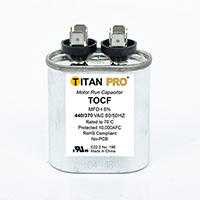 TITAN PRO Run Capacitor 2 MFD 440/370 Volt Oval