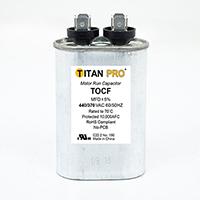 TITAN PRO Run Capacitor 10 MFD 440/370 Volt Oval