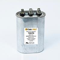 TITAN PRO Run Capacitor 25+7.5 MFD 440/370 Volt Oval