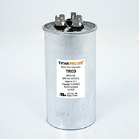 TITAN PRO Run Capacitor 50+10 MFD 370 Volt Round