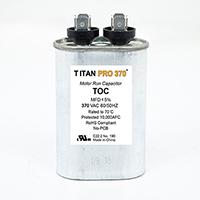 TITAN PRO Run Capacitor 17.5 MFD 370 Volt Oval