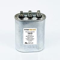 TITAN PRO Run Capacitor 35+5 MFD 370 Volt Oval