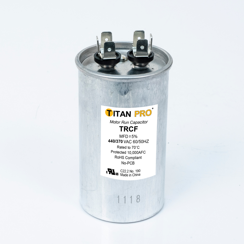 TITAN PRO Run Capacitor 40 MFD 440/370 Volt Round   Packard